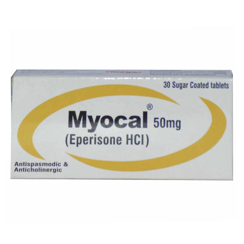 Myocal 50mg Tablet Mega Pharma Muscle Relaxant Eperione