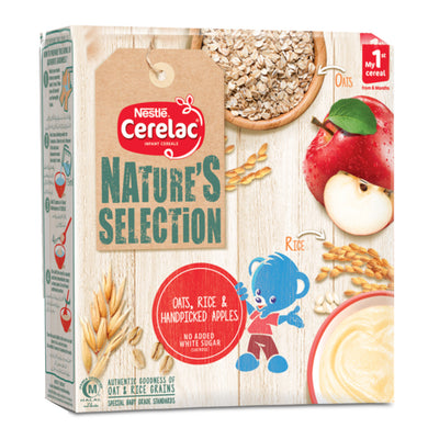 Nestle Nature Selection Oats Rice & Apples Cerelac 175gm