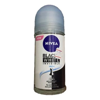 Nivea Invisible Black & White Deodorant Roll On For Women 50ml