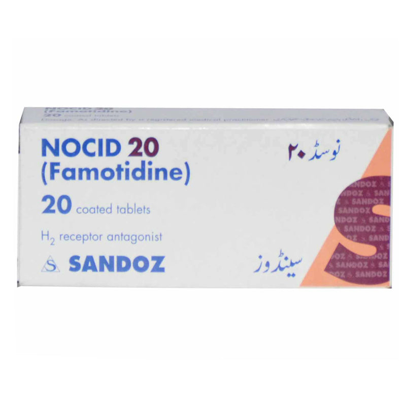 Nocid 20mg Tablet Novartis Pharma Pakistan Ltd Anti Ulcerant Famotidine