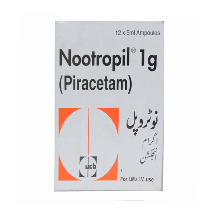 Nootropil 1g Injection Nootropics Piracetam Glaxosmith Pharma