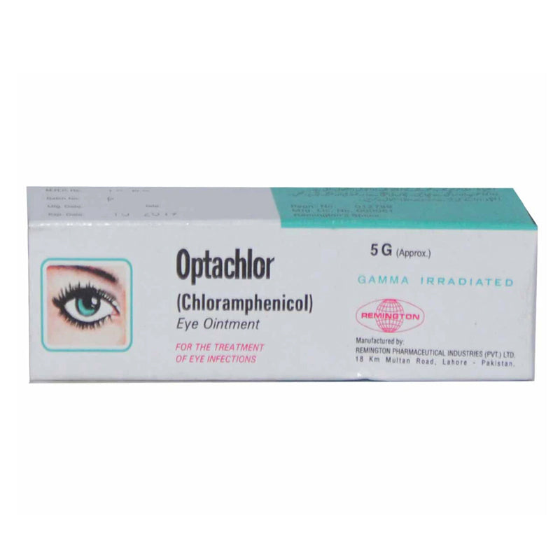 Optachlor Eye Ointment 5g Remington Pharmaceuticals Anti-Infective Chloramphenicol