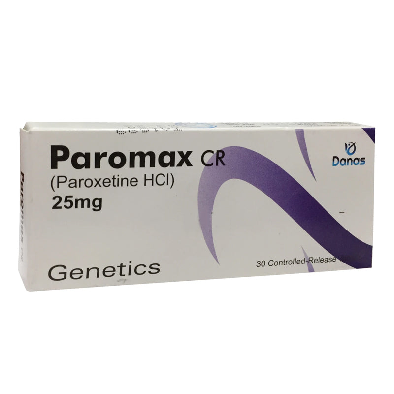 Paromax CR 25mg Tablet Anti-Depressant Paroxetine HCl Genetics Pharmaceuticals.