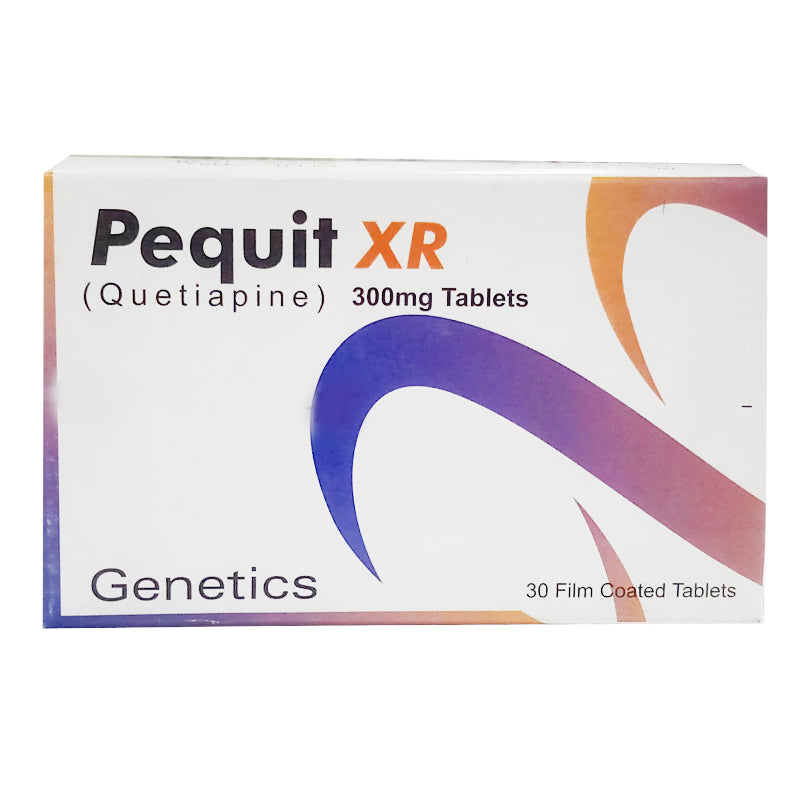 Pequit XR 300mg Tablet OBS Pharma Genetics Pharmaceuticals Psychosis Quetiapine