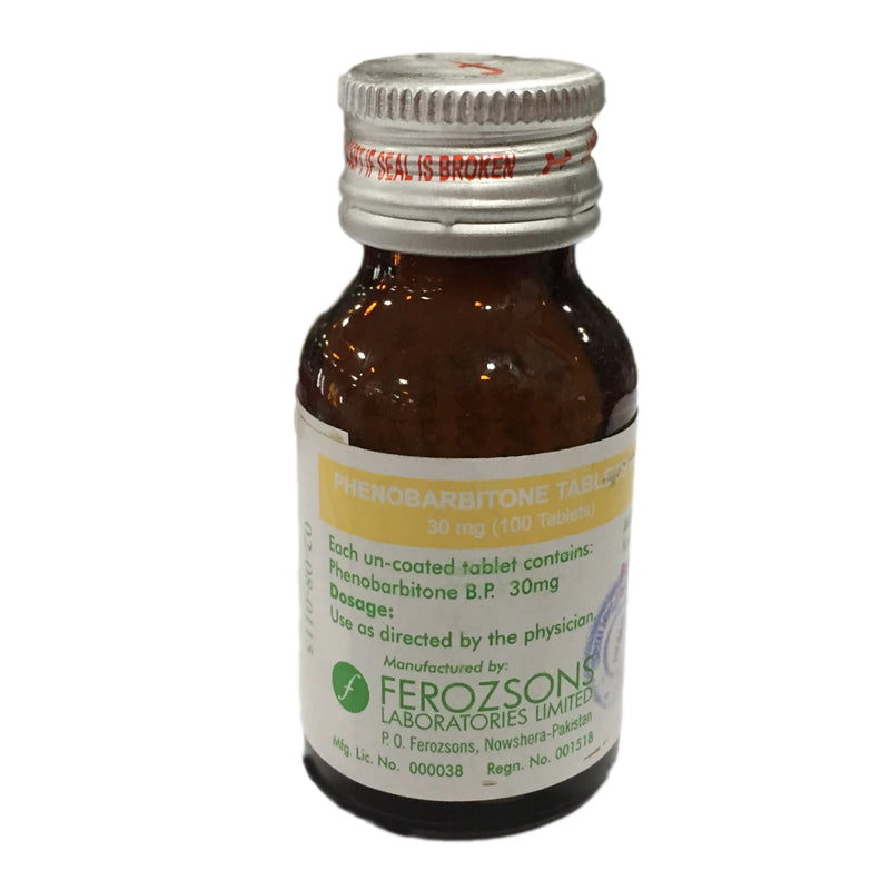 Phenobarbitone 30mg Tablet Phenobarbitone Ferozsons Laboratories Barbiturate/Anti-Convulsant