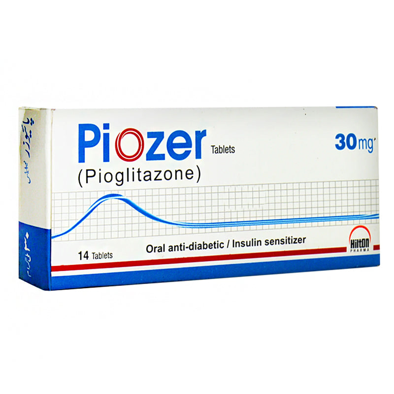 Piozer 30mg Tablet Hilton Pharma Pvt Ltd Oral Hypoglycemic Pioglitazone