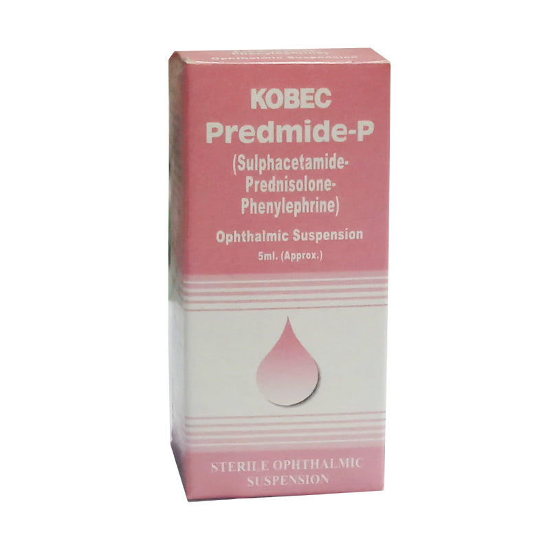Predmide-P Eye Drop Kobec health Sciences Anti-Infective, Corticosteroid Sulphacetamide-Prednisolone-Phenylephrine