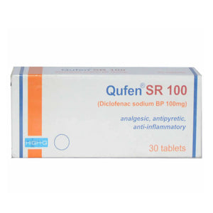 Qufen SR 100mg Tablet Diclofenac Sodium Nsaid high-Q Pharma