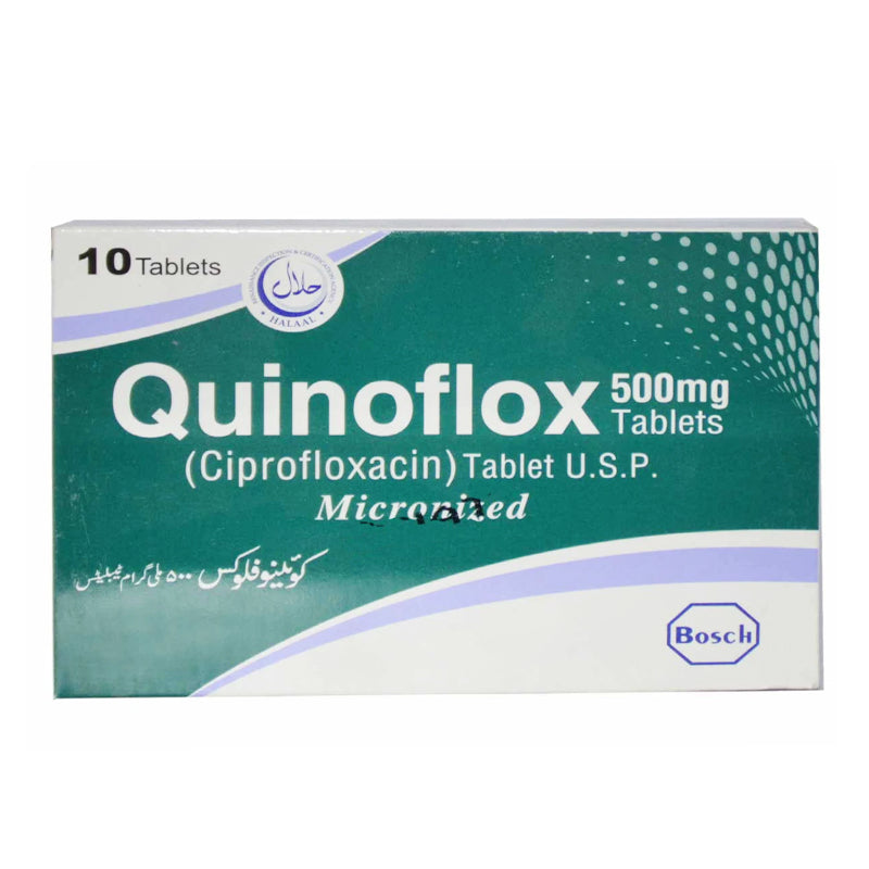 Quinoflox 500mg Tablet Ciprofloxacin Anti-Bacterial Bosch Pharma