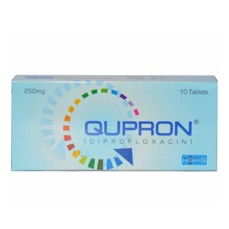 Qupron 500mg Tablet Ciprofloxacin Anti-bacterial High-Q Pharma