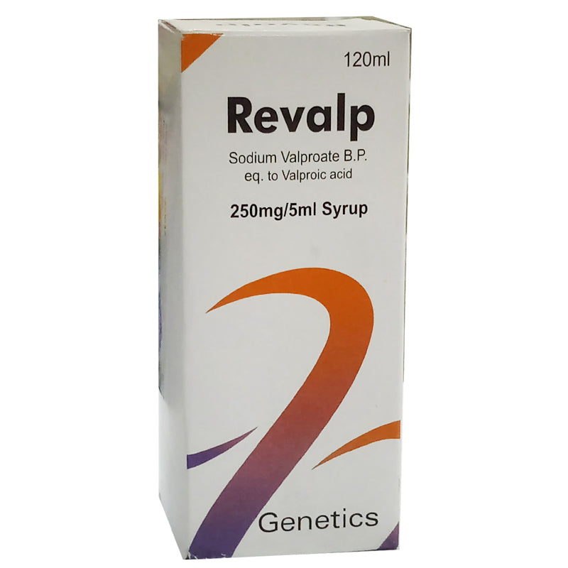 Revalp 120ml Syrup Genetics Pharmaceuticals Anti Epileptic Sod Valproate