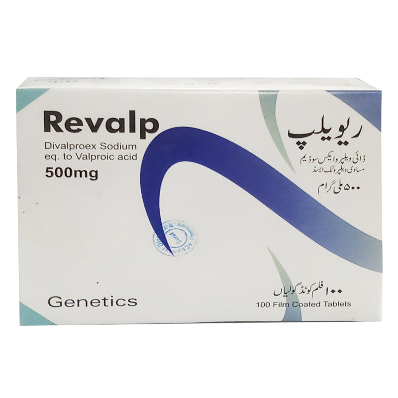 Revalp 500mg Tablet Genetics Pharmaceuticals Anti Epileptic Divalproex Sodium