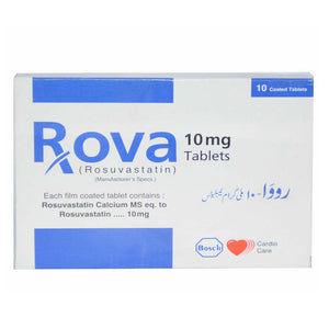 Rova 10mg Tablet Bosch Pharmaceuticals Pvt Ltd Statins Rosuvastatin