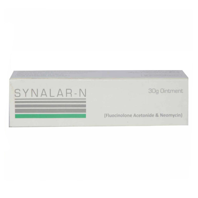 Synalar-N 30g Ointment Fluocinolone Acetonide & Neomycin Sulphate Pharma Health Anti-Bacterial + Corticosteroid