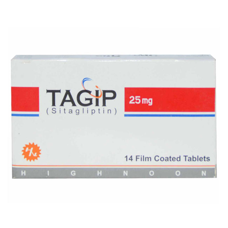 Tagip 25mg Tablet Sitagliptin Oral Hypoglycemic Highnoon Laboratories