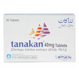 Tanakan 40mg Tablet Atco Laboratories Pvt_ Ltd Herbal Products Ginkgo Biloba Extract