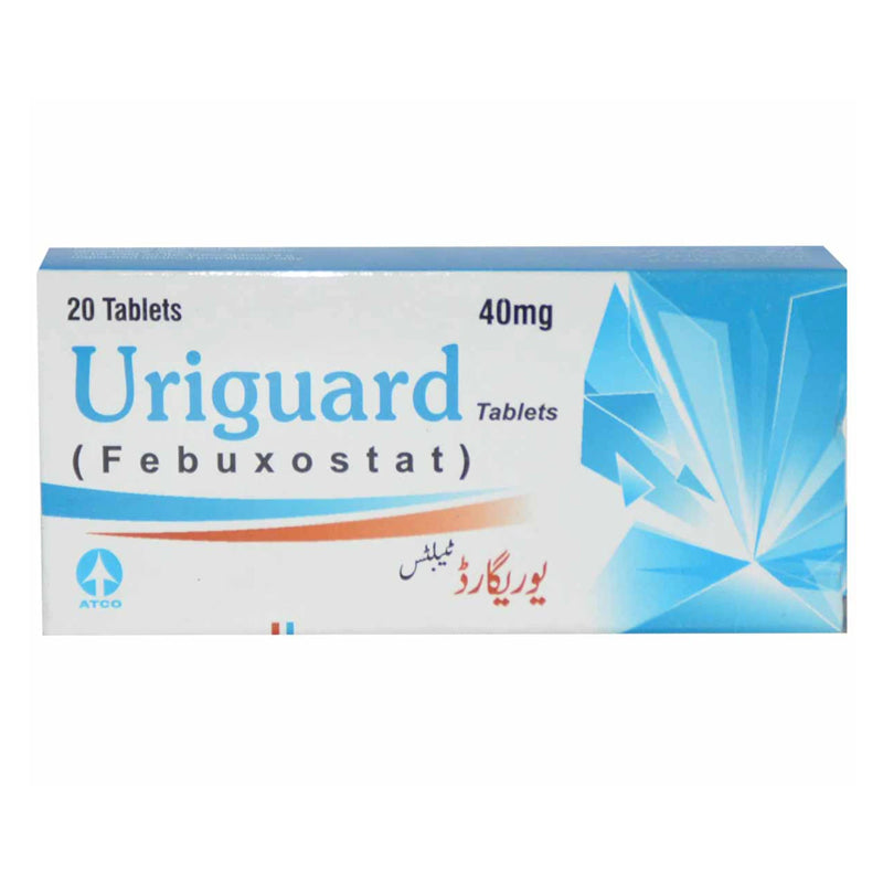 Uriguard 40mg Tablet Febuxostat Anti-Gout Atco Laboratories