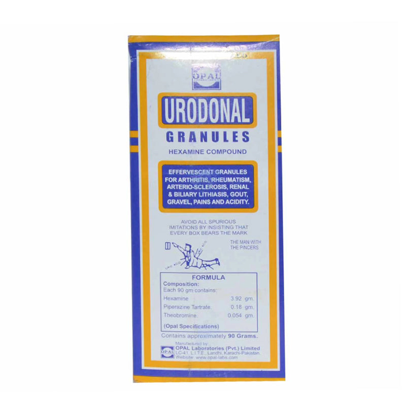 Urodonal Granules 90gm Hexamine Compound Opal Laboratories Urinary Anti-Infective