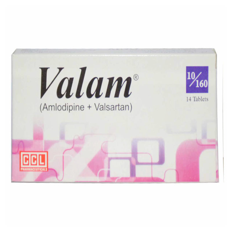 Valam 10 160 Tablet CCL Pharmaceuticals Anti Hypertensive Valsartan 160mg_ Amlodipine 10mg