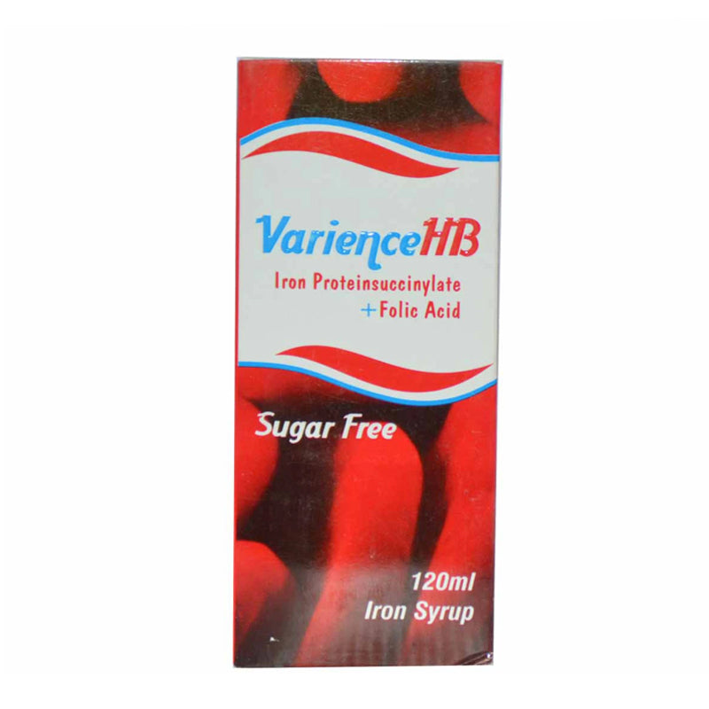 Varience HB 120ml Syrup Anti-Anemic Iron Proteinsuccinylate + Folic Acid Mass Pharma