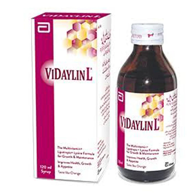 Vidaylin L 120ml Syrup Laboratories Pakistan_ Ltd Vitamin Supplement