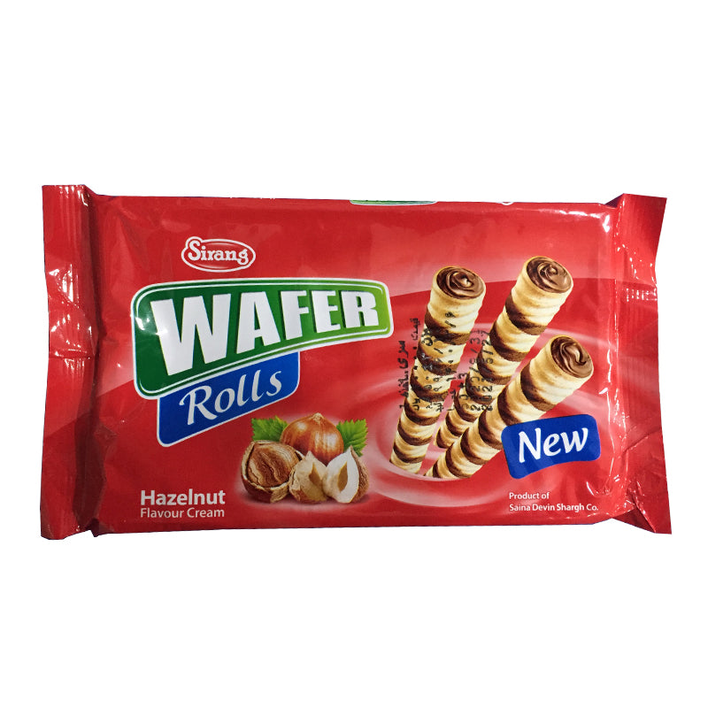Wafer Rolls Hazelnut Favour Cream Sirang
