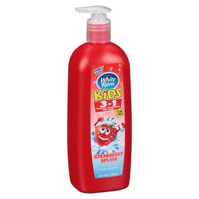 White Rain Kids 3 in 1 strawberry Splash 783ml