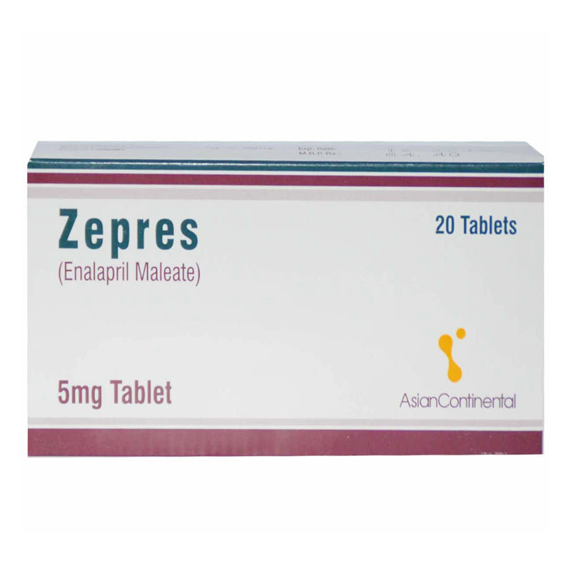 Zepres 5mg Tablet Enalapril Maleate Anti-Hypertensive Asian Continental Pharma