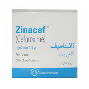 Zinacef 1.5mg Injection Cefuroxime Antibiotic Glaxosmithkline