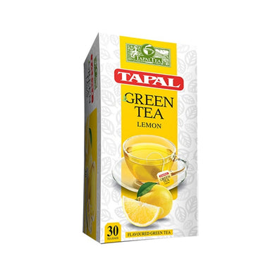 Tapal Green Tea Lemon Flavor 30 Tea Bags