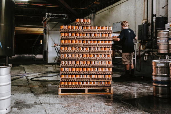 A batch of beer cans