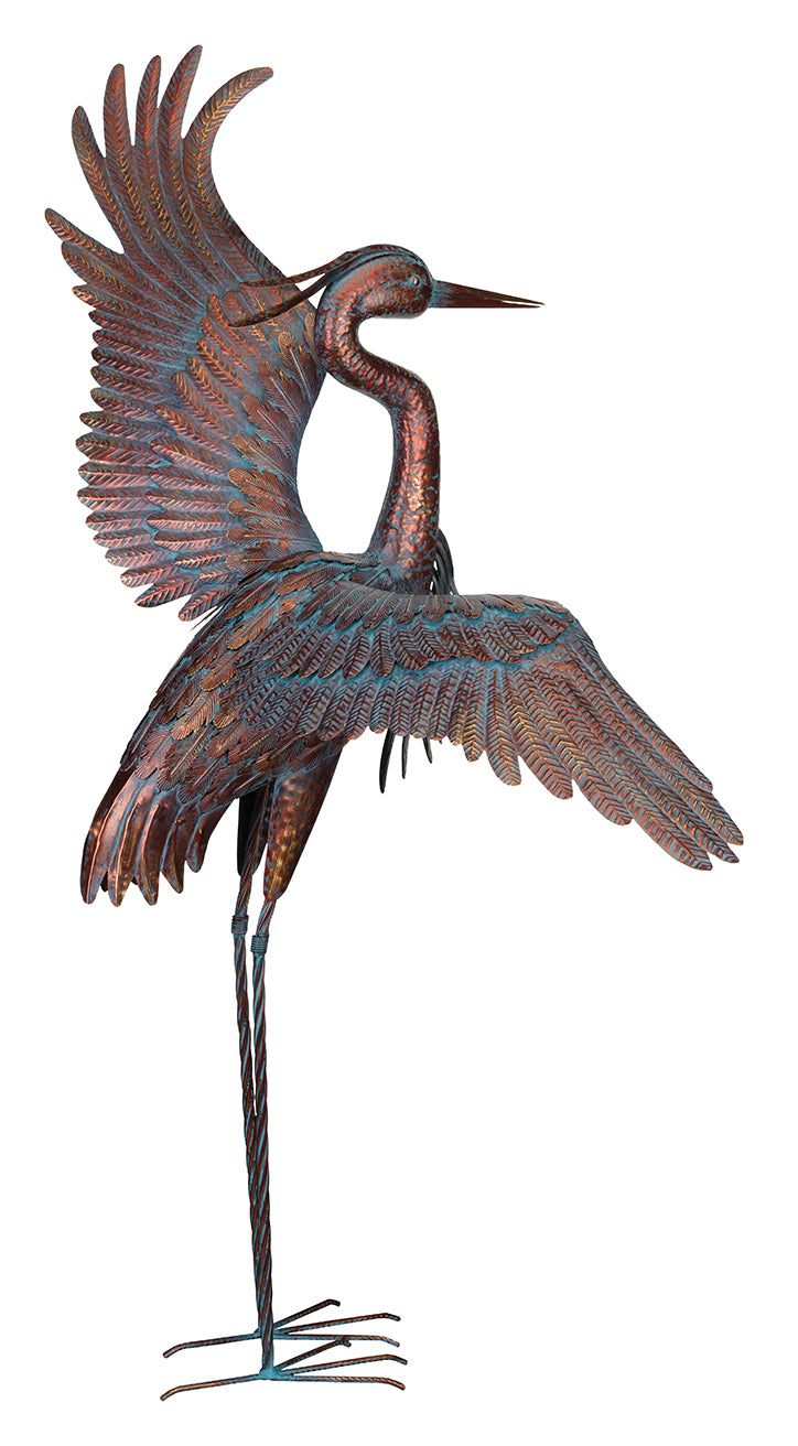 Bird Statuary Copper Patina Heon