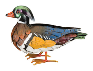 Bird Statuary Wood Duck Decor Male
