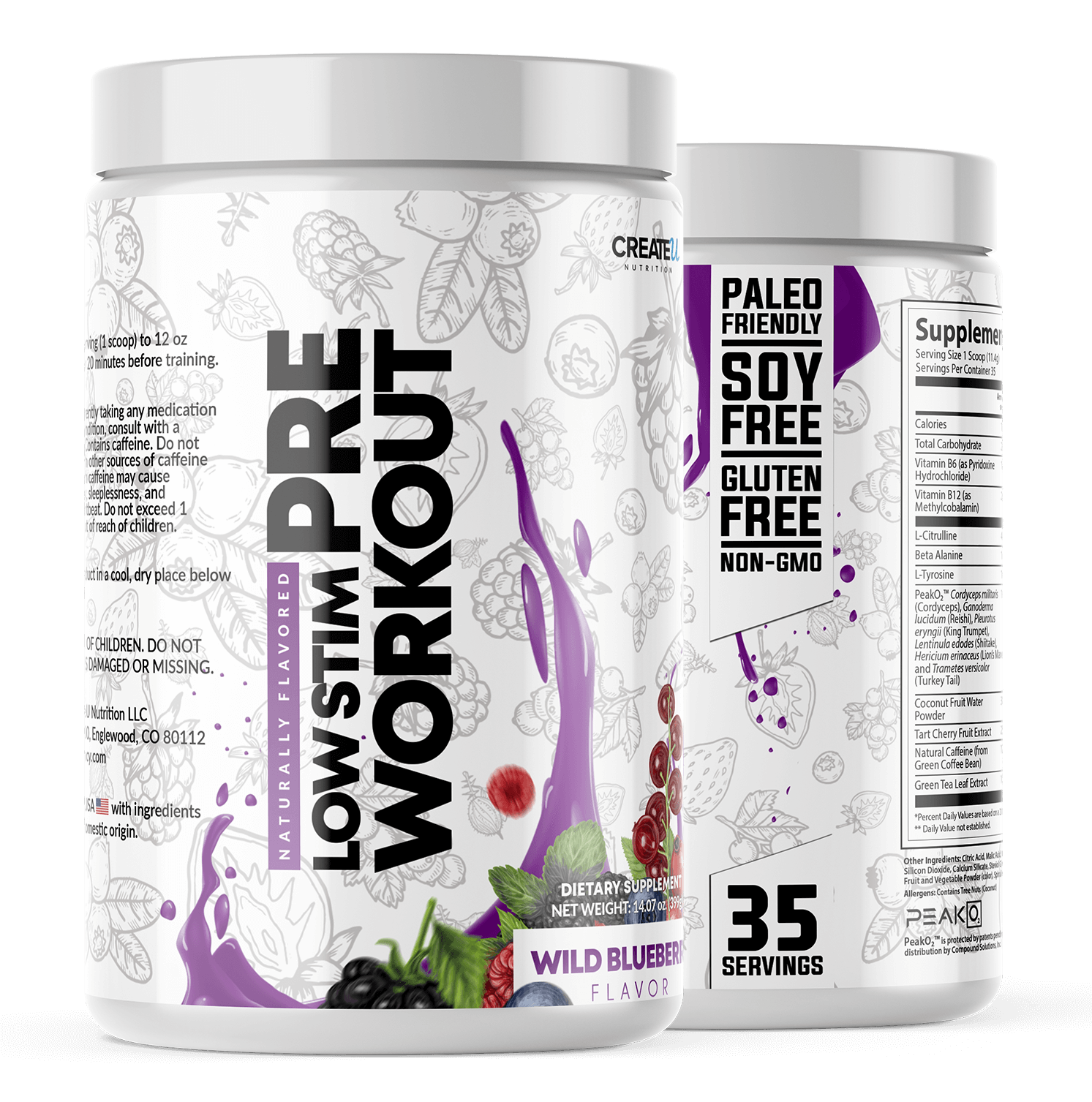 Pre Workout Wild Blueberry Home Product Image