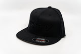 F7LTHY Flex Fit Hats Black on Black