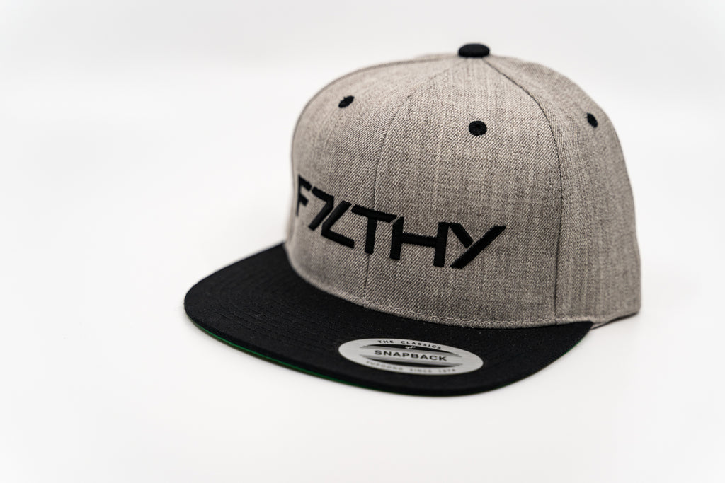 F7LTHY Flex Fit Hat Black and Grey