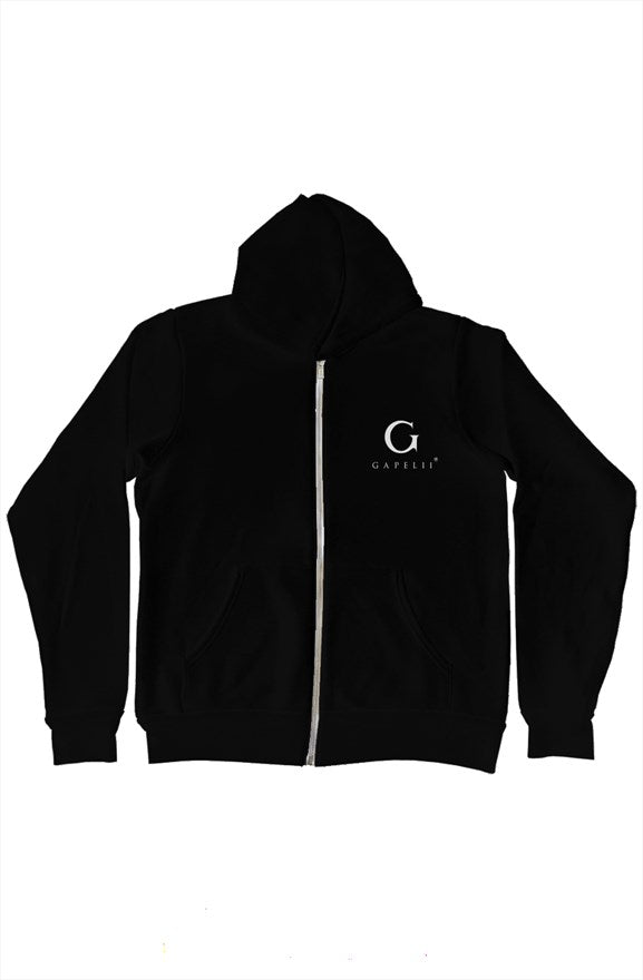 Gapelii Blk Zip-Up Hoody