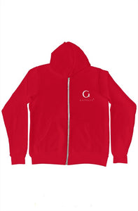 Gapelii Red Zip-Up Hoody AW19