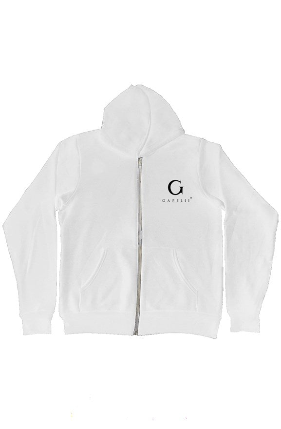 Gapelii White Zip-Up Hoody AW19