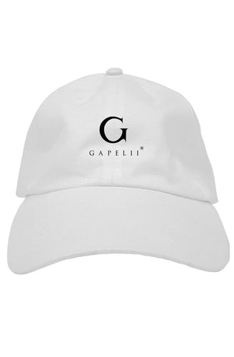 Gapelii White Cotton Dad Hat AW19