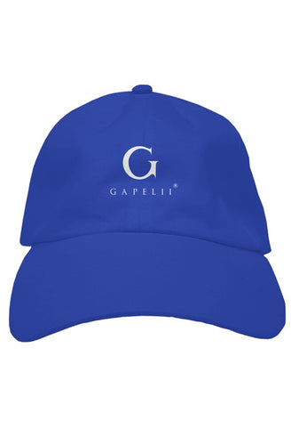 gapelii royal cotton dad hat (logo white)