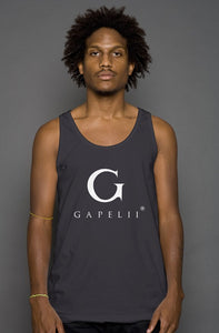Gapelii Cotton Tank Top Dark Grey (Logo White)