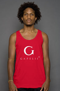 Gapelii Cotton Tank Top Red (Logo White)
