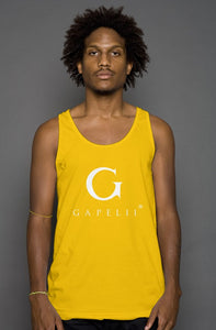 Gapelii Cotton Tank Top Gold (Logo White)