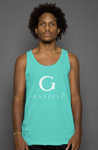 Gapelii Cotton Tank Top Teal (Logo White)