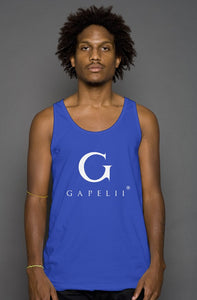 Gapelii Cotton Tank Top Royal (Logo White)