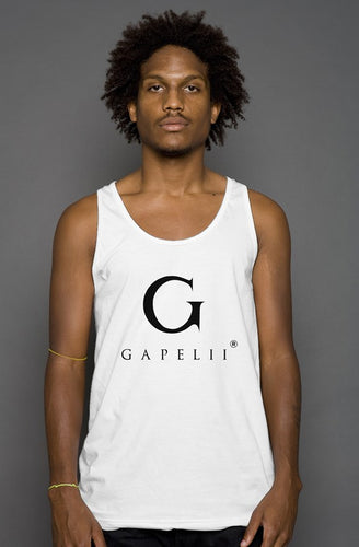 Gapelii Cotton Tank Top White (Logo Black)