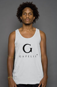 Gapelii Cotton Tank Top Silver (Logo Black)