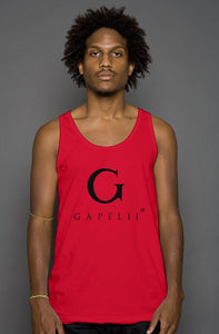 Gapelii Cotton Tank Top Red (Logo Black)