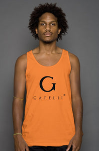 Gapelii Cotton Tank Top Orange (Logo Black)